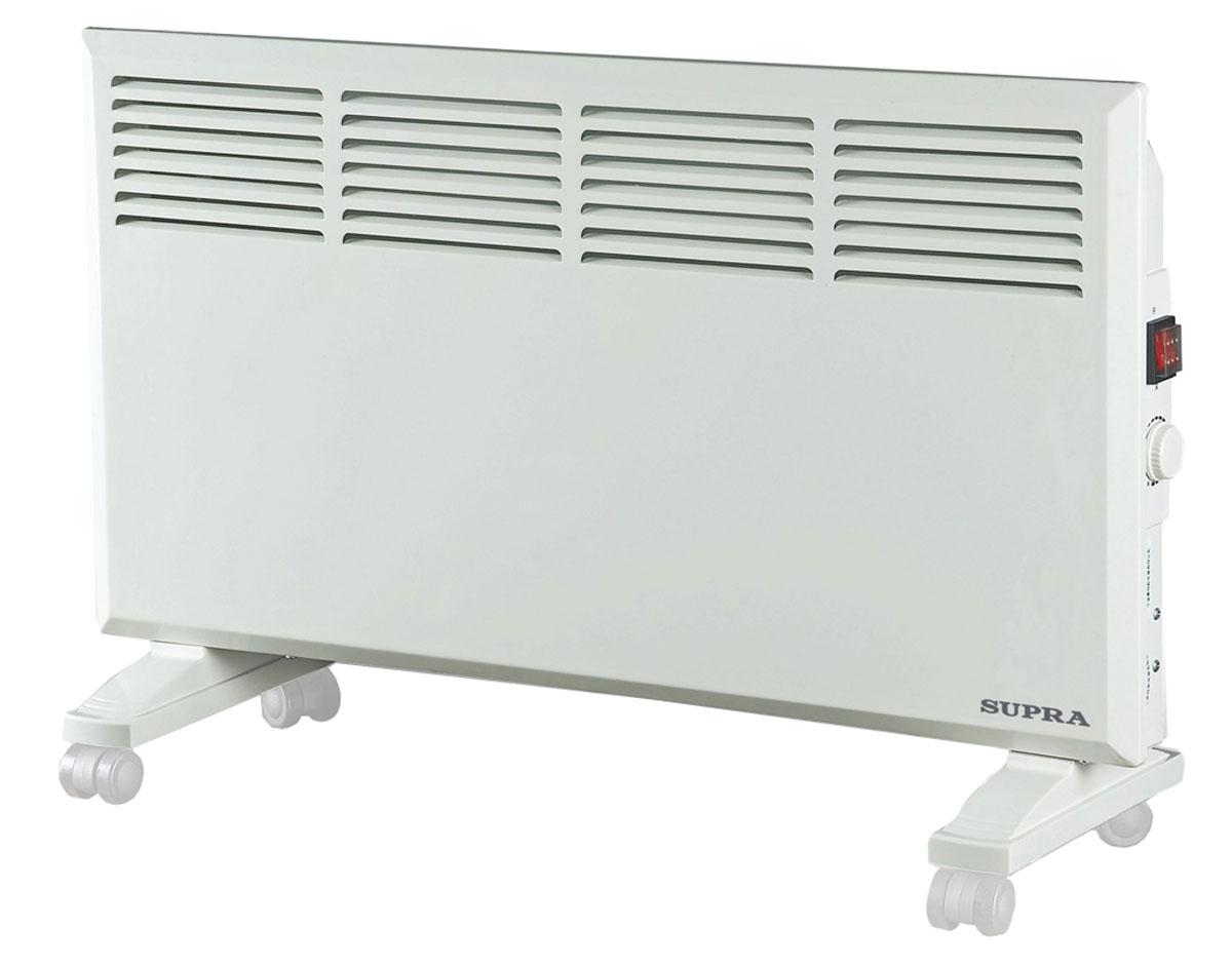 Supra ECS-415, White обогревательECS-415 whiteSupra ECS-415 - это электрический обогреватель конвективного типа.Холодный воздух, проходя через прибор и его нагревательный элемент, нагревается и выходит сквозь решетки-жалюзи, незамедлительно начиная обогревать помещение. Вся конструкция Supra ECS-415 направлена на равномерное распределение тепла для обогрева с максимальным комфортом. Бесшумная работа.В комплектемонтажная планка для настенного крепления иколёсики для напольного размещения и удобного перемещения.