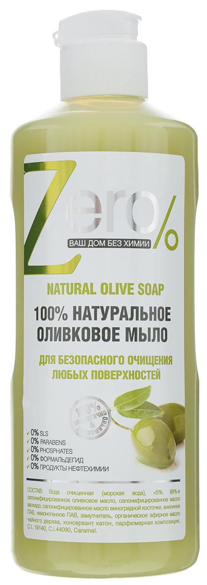 Мыло для очищения любых поверхностей Zero, оливковое, натуральное, 500 мл мыло для очищения любых поверхностей zero оливковое натуральное 500 мл