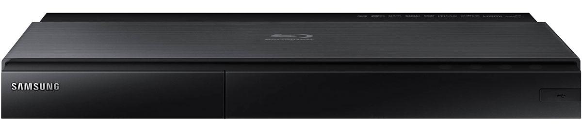 Samsung BD-J7500, Black Blu-ray плеерBD-J7500/RUBlu-ray проигрыватель Samsung BD-J7500 теперь представлен в новом дизайне, гармонирующим с новыми Smart телевизорами Samsung. Сочетание двух цветовых тонов тонкого стильного черного корпуса в минималистичном дизайне с темной титановой отделкой превращает видеопроигрыватель в предмет декора вашего дома.Превосходная передача мельчайших деталей превращает изображение в настоящую реальность. Проигрыватель преобразует Full HD изображение в сверхчеткое изображение формата Ultra HD, что в четыре раза превышает разрешение формата Full HD. Теперь вы можете наслаждаться кристально-чистой картинкой каждый день.Теперь вы имеете доступ к неисчерпаемой библиотеке интересного контента на ресурсе Smart Hub. Blu-ray проигрыватель Samsung открывает вам доступ к огромной библиотеке контента для Smart телевизоров. Оцените удовольствие от использования сотен приложений, включая такие популярные приложения, как Facebook, YouTube и Netflix. Smart Hub - это ключ в мир развлечений, социальных сетей и многое другое. Никогда не было так легко приобщиться к миру развлечений, не выходя из дома. Благодаря встроенной поддержке сети LAN, вы можете пользоваться Интернетом и иметь доступ к приложениям, не испытывая неудобства, связанные с использованием других внешних устройств.Blu-ray плееры Samsung оснащены встроенной поддержкой беспроводной сети DLNA, благодаря чему вы можете проигрывать любые мультимедийные файлы непосредственно с ваших мобильных устройств.Модель поддерживает двухчастотный Wi-Fi для более высокой стабильности и увеличения скорости работы в беспроводной сети. Вы по достоинству оцените экономию времени благодаря более быстрому доступу к сети и свободе от паутины проводов.