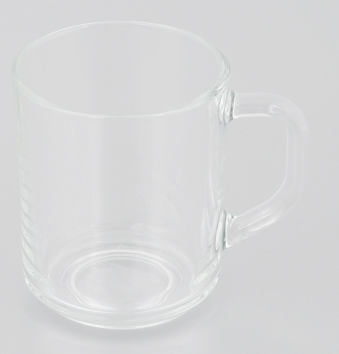 """Кружка """"Luminarc"""" изготовлена из упрочненного стекла. Такая кружка прекрасно  подойдет для горячих и холодных напитков. Она дополнит коллекцию вашей  кухонной посуды и будет служить долгие годы.   Диаметр кружки (по верхнему краю): 7,4 см.  Высота кружки: 9,5 см."""