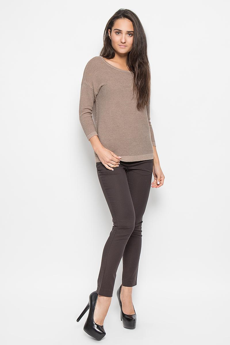 Купить Джемпер женский Sela Casual, цвет: бежевый. JR-114/349-6333. Размер S (44)