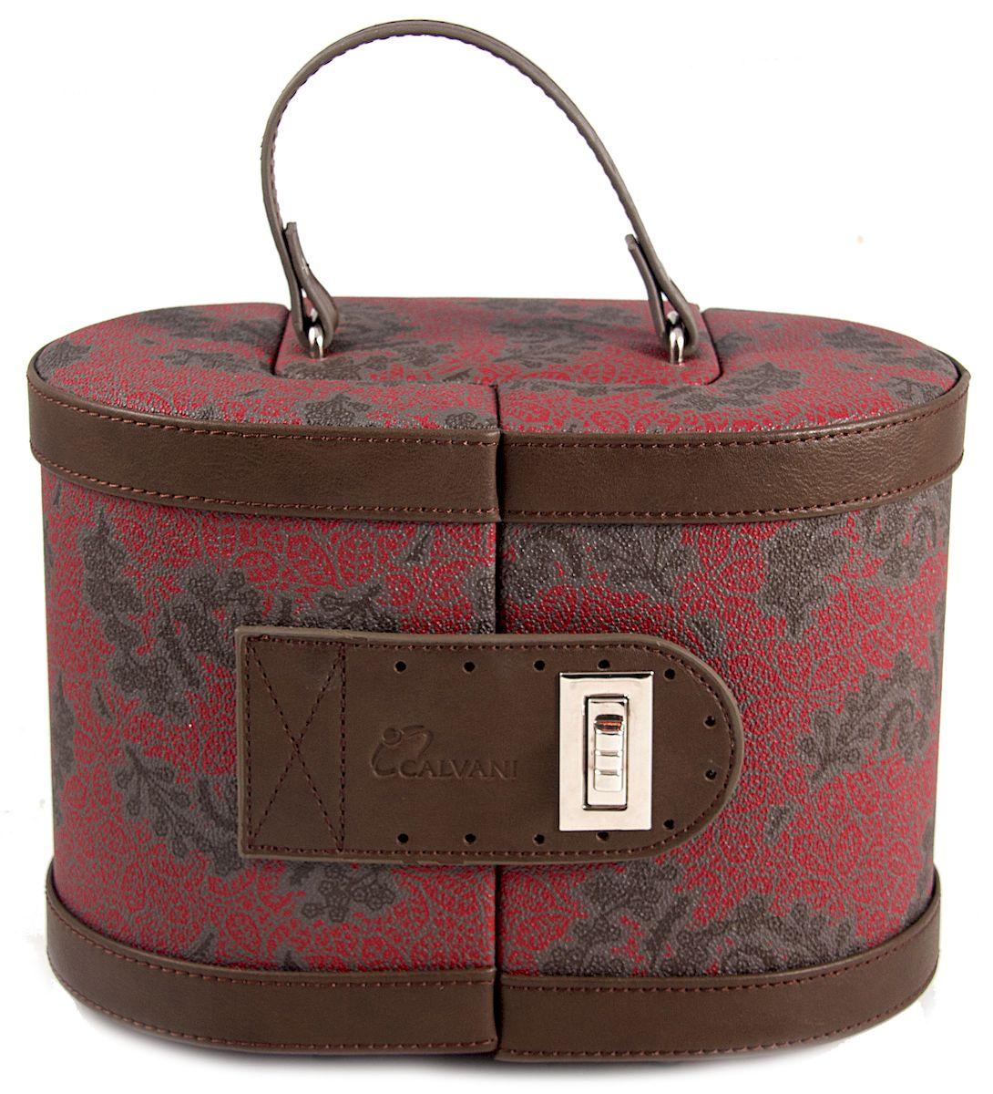 Шкатулка для ювелирных украшений Calvani, 24 х 15 х 16 см. 183022183022Великолепная шкатулка Calvani для ювелирных украшений не оставит равнодушной ни одну любительницу изысканных вещей. Шкатулка имеет множество отделений для различных типов украшений. Внутри шкатулки расположено небольшое удобное зеркальце. Шкатулка закрывается на защелку-замок и имеет удобную ручку. Внутренняя поверхность шкатулки оформлена искусственной замшей нежного светло-бежевого цвета, что придает ей шарм и изысканность. Сочетание оригинального дизайна и функциональности сделает такую шкатулку практичным и стильным подарком и предметом гордости ее обладательницы.