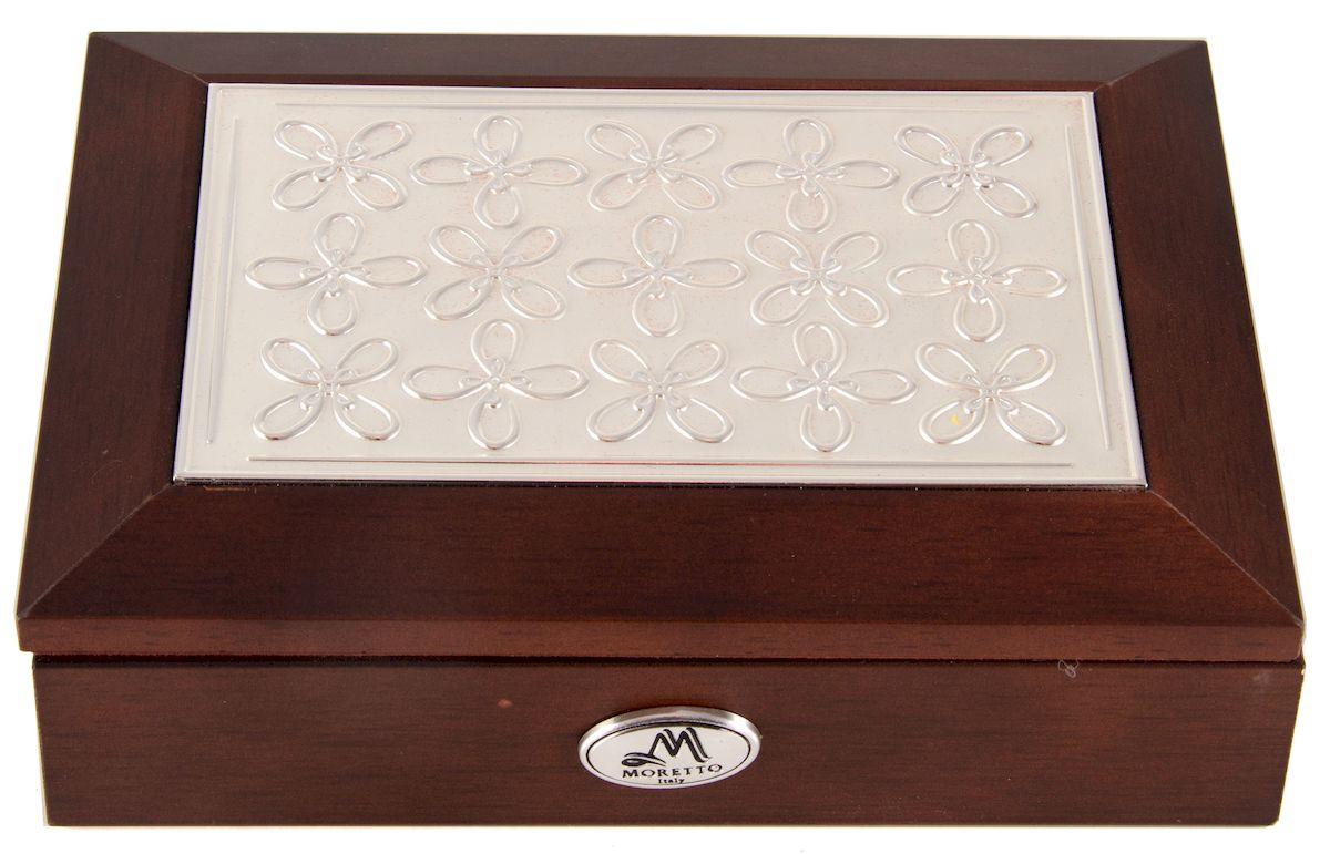 Шкатулка Moretto Цветы, 18 х 13 х 5 см. 3959339593Шкатулка Цветы торговой марки MORETTO сохранит ваши ювелирные изделия в первозданном виде. С ней высможете внести в интерьер частичку элегантности. Данная модель выполнена из качественных материалов истанет оригинальным подарком.