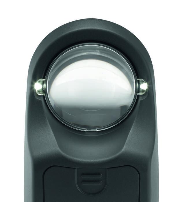 Лупа настольная с подсветкой powerlux, диаметр 58 мм, 7. 0х (28. 0 дптр), 8. 000 К.  158628.  Eschenbach Eschenbach