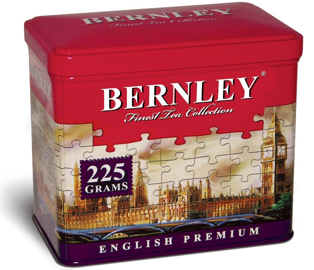 Bernley English Premium листовой ароматизированный чай, 225 г (ж/б)1070118Уникальный баланс черного чая высшего качества и нежного тропического вкуса бергамота, продолжительная свежесть и экзотические цитрусовые нотки в длительном послевкусии делают чай BERNLEY ENGLISH PREMIUM не только прекрасно тозирующим, но и изумительным десертным напитком.