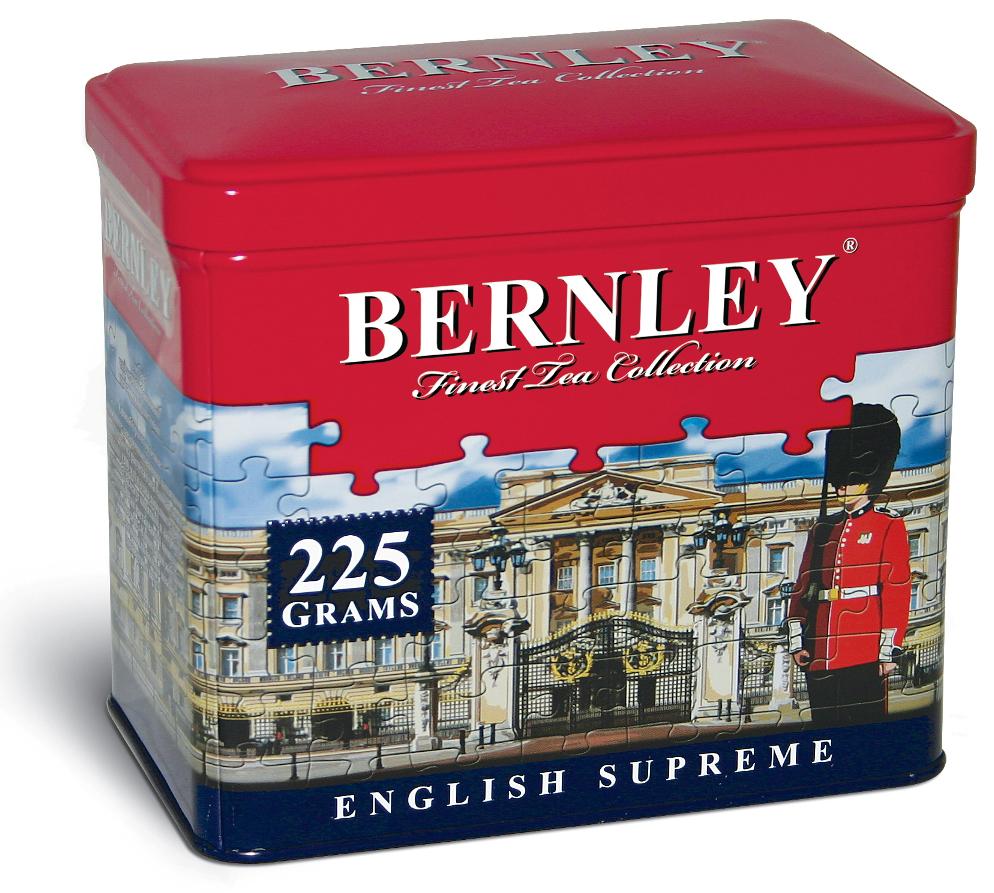 Bernley English Supreme черный листовой чай, 225 г (ж/б)1070122Листовой черный чай торговой марки Bernley с его первозданной свежестью и поистине аристократическим благородством - прекрасный выбор для искушенных ценителей настоящего цейлонского чая высшего качества.Всё о чае: сорта, факты, советы по выбору и употреблению. Статья OZON Гид