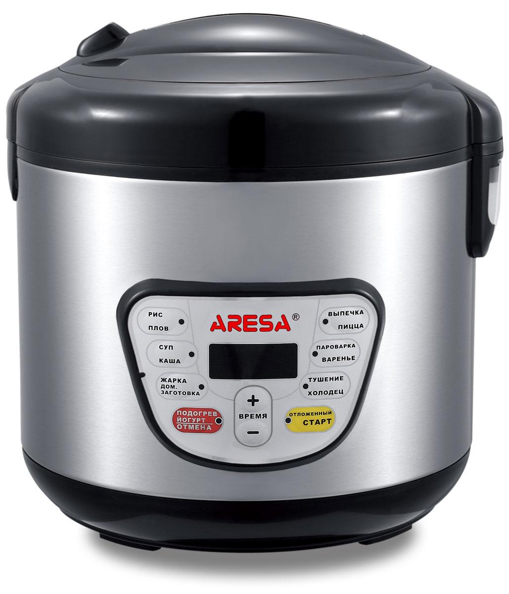 Aresa AR-2002 мультиваркаAR-2002Мультиварка Aresa AR-2002 имеет светодиодный LED-дисплей и вместительную чашу объемом 5 литров с керамическим покрытием. Удобная ручка для переноски позволит осуществлять удобное перемещение прибора. Множество различных функций и режимов приготовления позволит готовить именно те блюда, которые вам нравятся. Регулировка времени приготовления варьируется от 5 минут до 6 часов. В комплект входят полезные аксессуары для приготовления пищи, а книгу рецептов можно бесплатно скачать с сайта производителя.Как выбрать мультиварку. Статья OZON Гид