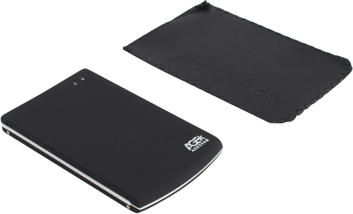 Корпус для жесткого диска AgeStar SUB2O5 usb2.0 to 2.5hdd SATA, AluminiumSUB2O5Внешний корпус AgeStar SUB205 предназначен для работы с жесткими дисками форм-фактора 2.5 с интерфейсом SATA посредством интерфейса USB 2.0. Стильный алюминиевый корпус покрыт приятным на ощупь прорезиненным материалом. Для удобства установки жесткого диска в комплект поставки входит малогабаритная отвертка. Внешний корпус поддерживает функции Hot-Plug и Plug & Play.