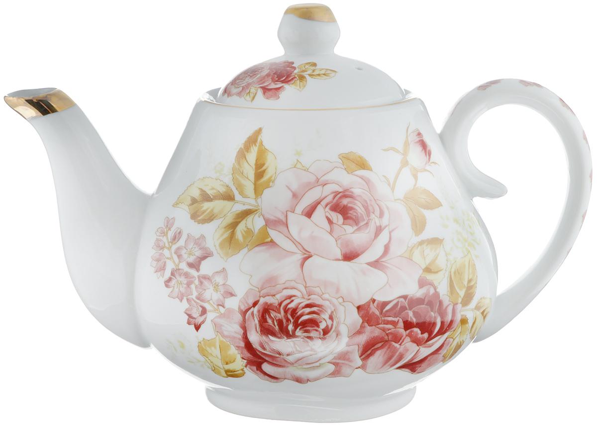 Чайник заварочный Loraine Розы, 1 л. 2456024560Заварочный чайник Loraine Розы изготовлен извысококачественной керамики. Внешние стенки оформлены красочнымизображением роз и золотистым орнаментом. Гладкая и идеально ровная поверхностьобеспечивает легкую очистку. Чайник поможет заварить крепкий ароматный чай иизысканно украсит стол к чаепитию. Изделие упаковано в подарочную коробку с атласной подложкой. Диаметр чайника (по верхнему краю): 7,5 см. Высота чайника (без учета крышки): 10 см.