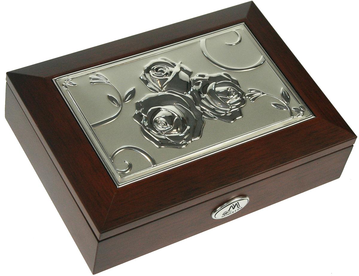 Шкатулка для ювелирных украшений Moretto, 18 х 13 х 5 см. 139516139516Шкатулка Moretto станет идеальным обрамлением для вашей коллекции украшений, заставляя заиграть ее новыми красками. Шкатулка выполнена в классическом стиле. Одноярусная схема исполнения и зеркало, скрывающееся под крышкой, позволит вам провести немало приятных минут, примеряя свои драгоценности.Размеры шкатулки: 18 х 13 х 5 см.
