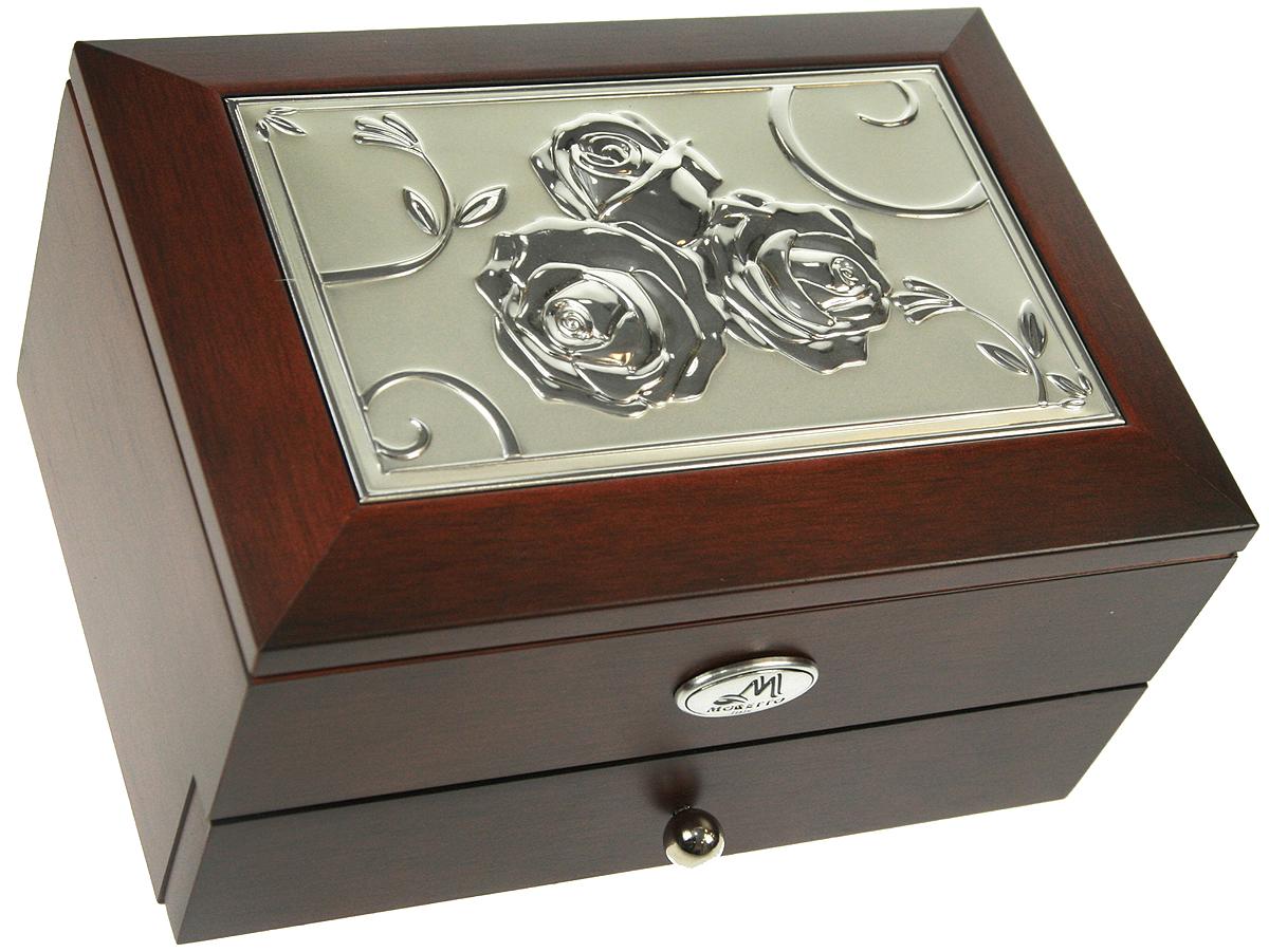 Шкатулка для ювелирных украшений Moretto, 2-ярусная, 18 х 13 х 10 см. 139525139525Шкатулка Moretto станет идеальным обрамлением для вашей коллекции украшений, заставляя заиграть ее новыми красками. Шкатулка выполнена в классическом стиле. Двухъярусная схема исполнения и зеркало, скрывающееся под крышкой, позволят вам провести немало приятных минут, примеряя свои драгоценности.Размеры шкатулки: 18 х 13 х 10 см.