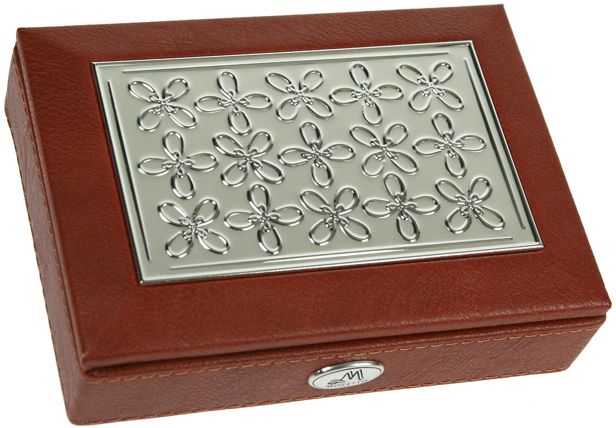 Шкатулка для ювелирных украшений Moretto, 18 х 13 х 5 см. 139529 шкатулка для украшений moretto ромашка 18 13 5 см серая