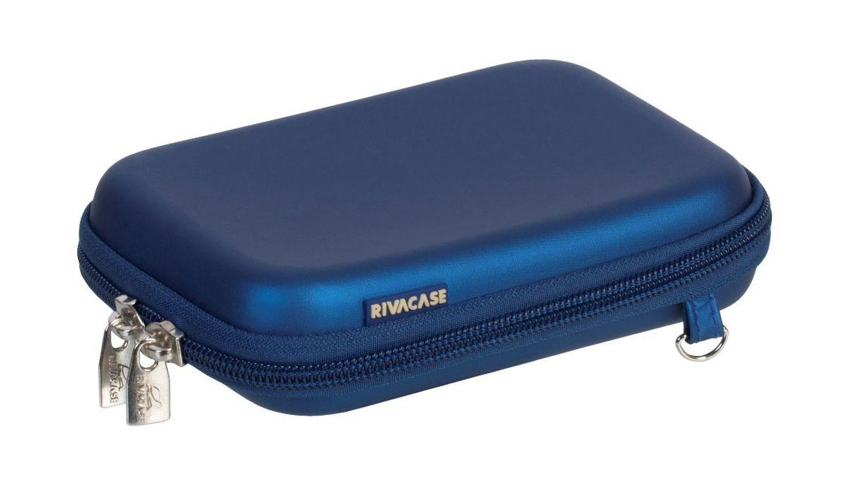 RIVACASE 9101 (PU) HDD Case, Light Blue чехол для жесткого диска6660Чехол Riva 9101 (PU) HDD Case для внешнего жесткого диска (HDD). Подходит для большинства 2.5 HDD. Чехол создан из высококачественного материала EVA, он надежно защищает от внешних воздействий, случайных ударов и царапин, а также от пыли и влаги. Предусмотрена возможность крепления на поясном ремне. Устройство надежно крепится внутри чехла специальной фиксирующей лентой, кроме того предусмотрены дополнительные внутренние карманы для кабеля, карт памяти и аксессуаров. Двойная застежка молния для удобного доступа к устройству.