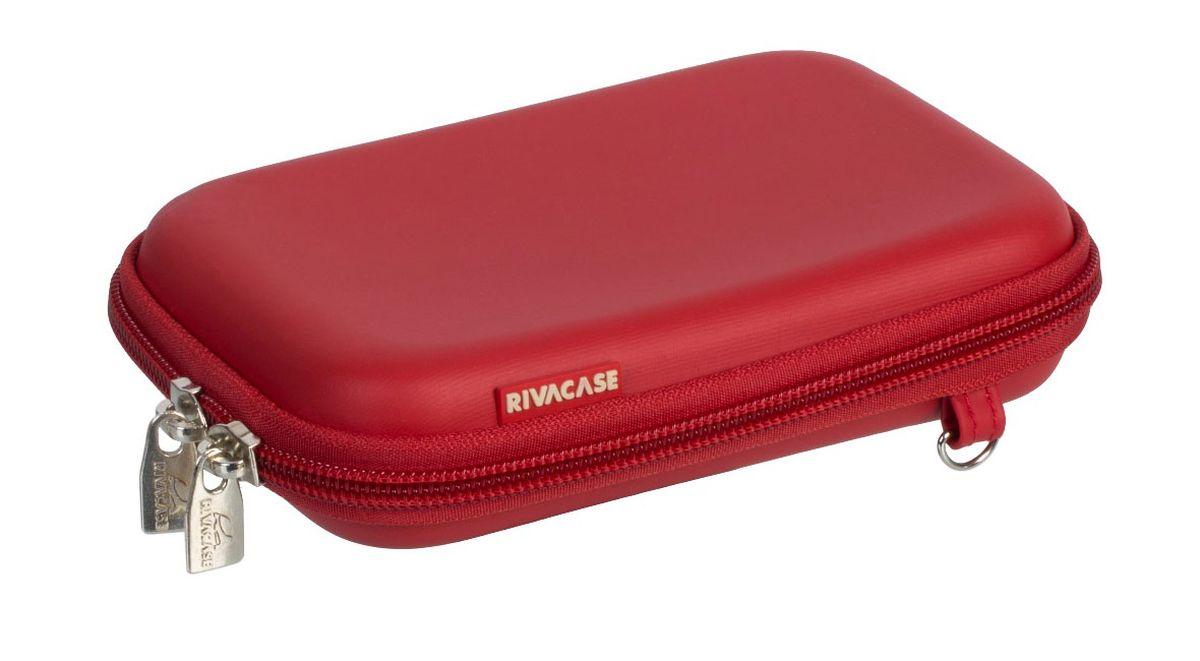 Riva 9101 (PU) HDD Case, Red чехол для жесткого диска6661Чехол Riva 9101 (PU) HDD Case для внешнего жесткого диска (HDD). Подходит для большинства 2.5 HDD. Чехол создан из высококачественного материала EVA, он надежно защищает от внешних воздействий, случайных ударов и царапин, а также от пыли и влаги. Предусмотрена возможность крепления на поясном ремне. Устройство надежно крепится внутри чехла специальной фиксирующей лентой, кроме того предусмотрены дополнительные внутренние карманы для кабеля, карт памяти и аксессуаров. Двойная застежка молния для удобного доступа к устройству.