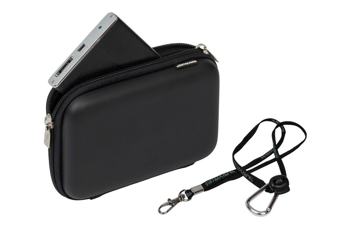 RIVACASE 9102 (PU) HDD / GPS Case, Black для жесткого диска стоимость