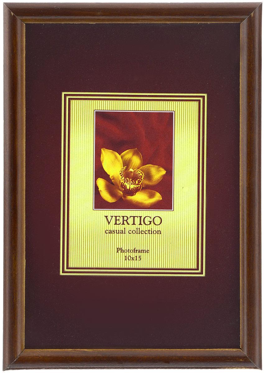 Фоторамка Vertigo Veneto, цвет: коричневый, 10 х 15 см12179 WF-019/179_коричневыйФоторамка Vertigo Veneto выполнена из дерева и стекла, защищающего фотографию. Оборотная сторона рамки оснащена специальной ножкой, благодаря которой ее можно поставить на стол или любое другое место в доме или офисе. Также изделие оснащено специальными отверстиями для подвешивания на стену.Такая фоторамка поможет вам оригинально и стильно дополнить интерьер помещения, а также позволит сохранить память о дорогих вам людях и интересных событиях вашей жизни.Размер рамки: 10 х 15 см.