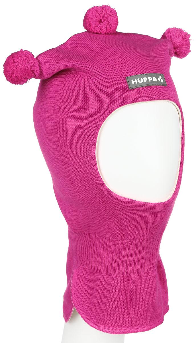 Шапка-шлем для девочки Huppa COCO, цвет: фуксия. 85070000-60063. Размер 51/5385070000-60063Теплая шапка-шлем Huppa Coco выполнена из мериносовой шерсти с добавлением акрила, подкладка выполнена из натурального хлопка. Изделие оснащено мембраной для защиты ушей от холода. Модель декорирована тремя небольшими помпонами. Шейная часть изделия связана резинкой. Уважаемые клиенты! Обращаем ваше внимание на тот факт, что размер, доступный для заказа, является обхватом головы.