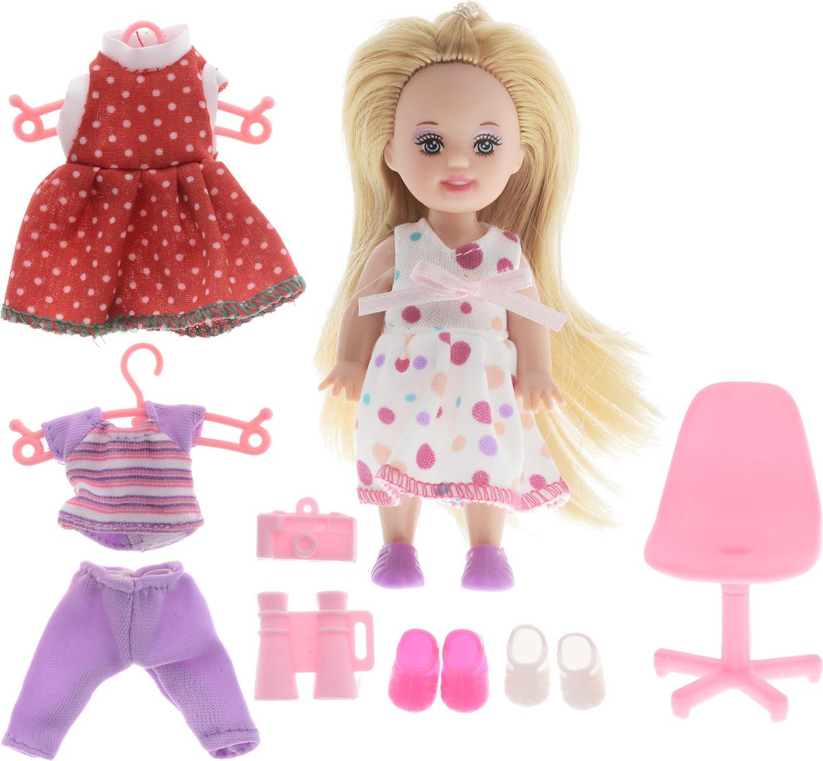 Defa Игровой набор с мини-куклой Happy Sairy Style цвет белый красный сиреневый кукла defa lucy летние покупки 8220