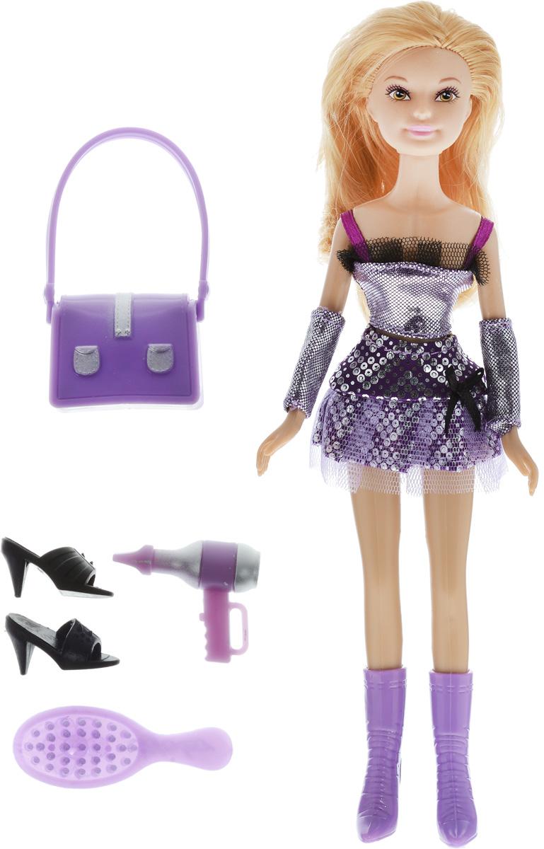 Defa Кукла Lucy Модница цвет одежды серебристый фиолетовый кукла defa lucy 8166