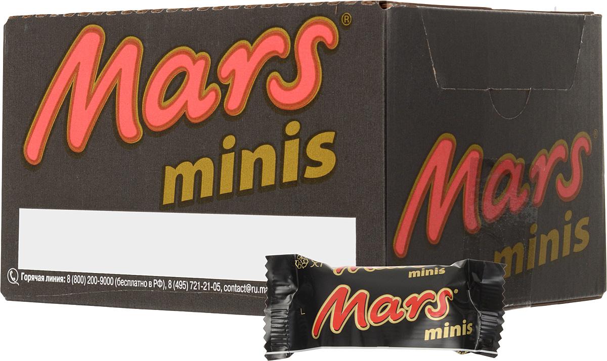 Mars minis шоколадный батончик, 1 кг mars шоколадный батончик mars 50г