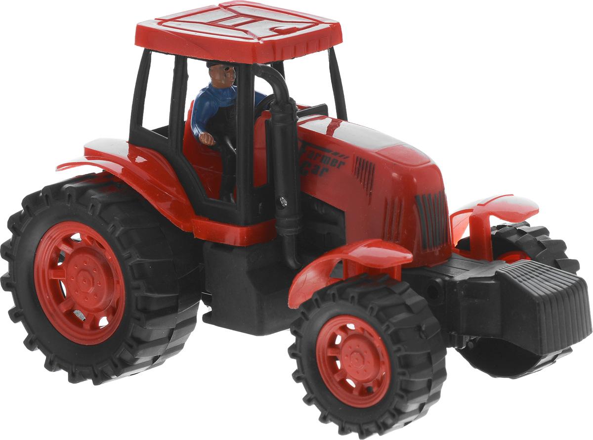 Junfa Toys Трактор инерционный цвет красный