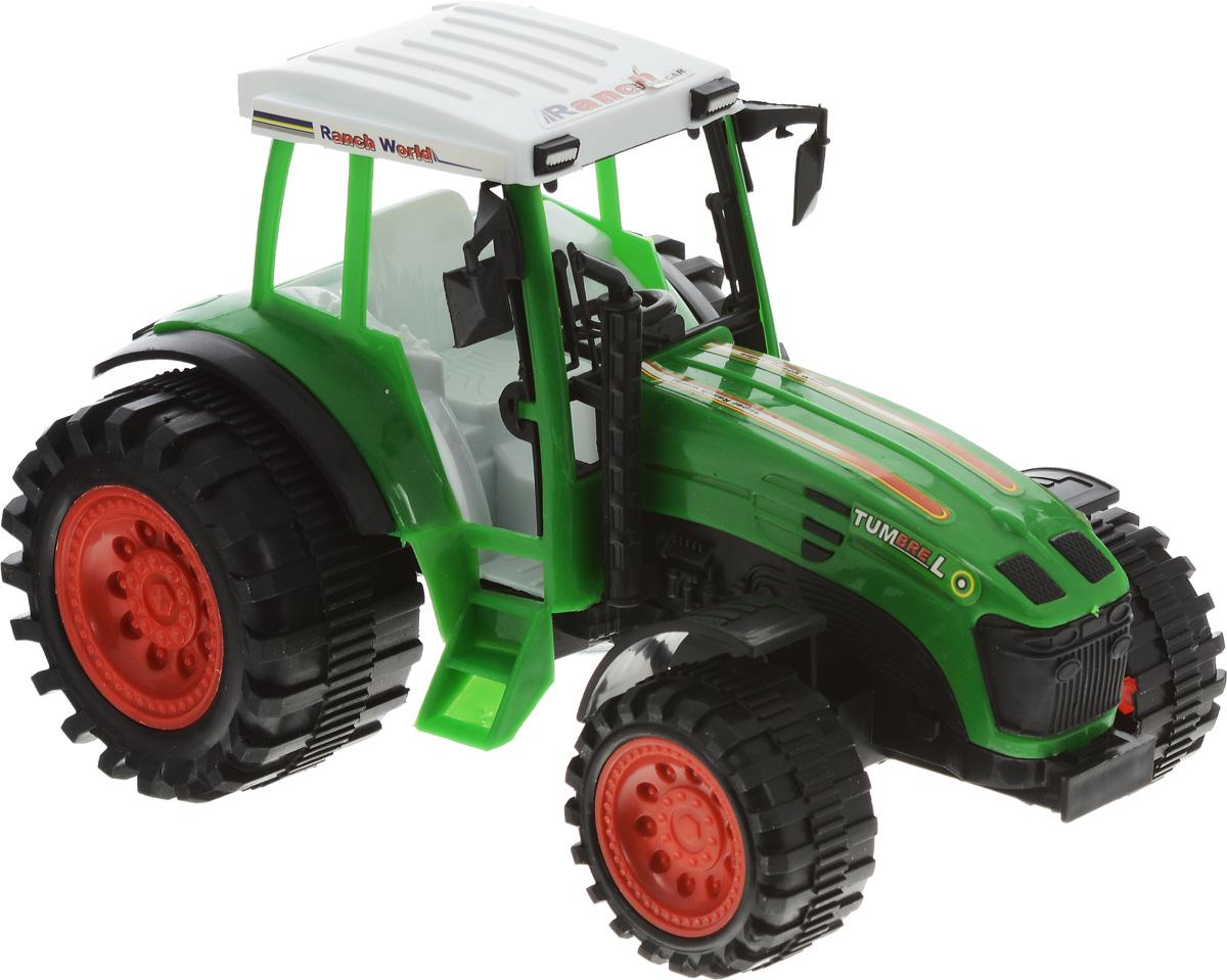 Junfa Toys Трактор инерционный Ranch World цвет зеленый на трактор т 40 где кабину
