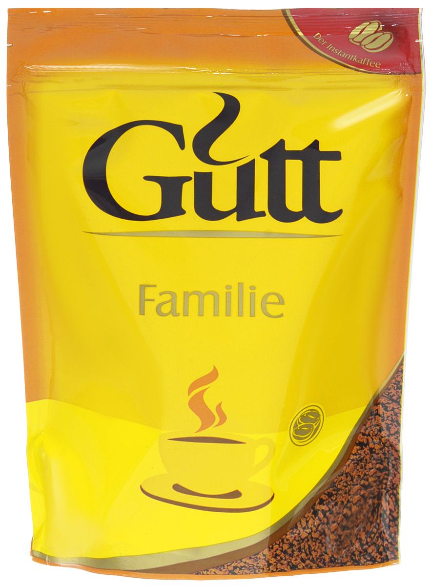 Gutt Familie кофе растворимый гранулированный, 75 г639Удовлетворить потребности всей семьи в качественном кофе призван Gutt Familie. Напиток изготовлен из традиционной смеси арабики и робусты, обжаренной на медленном огне.Кофе: мифы и факты. Статья OZON Гид