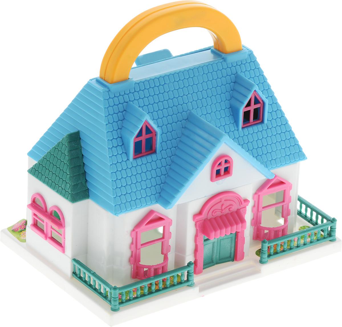 ABtoys Дом для кукол цвет белый голубой большой дом для кукол купить