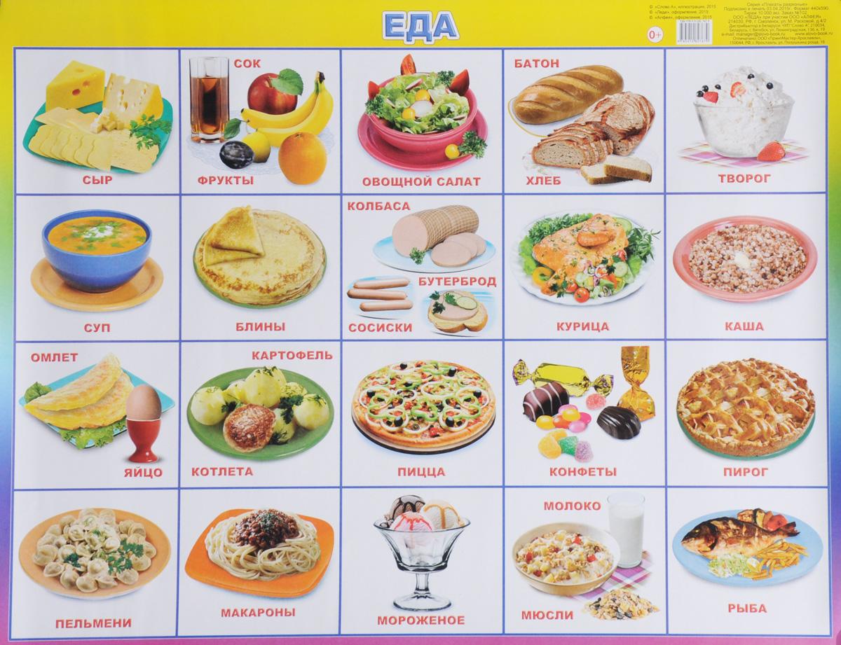 Алфея Обучающий плакат Еда алфея обучающий плакат малый таблица умножения