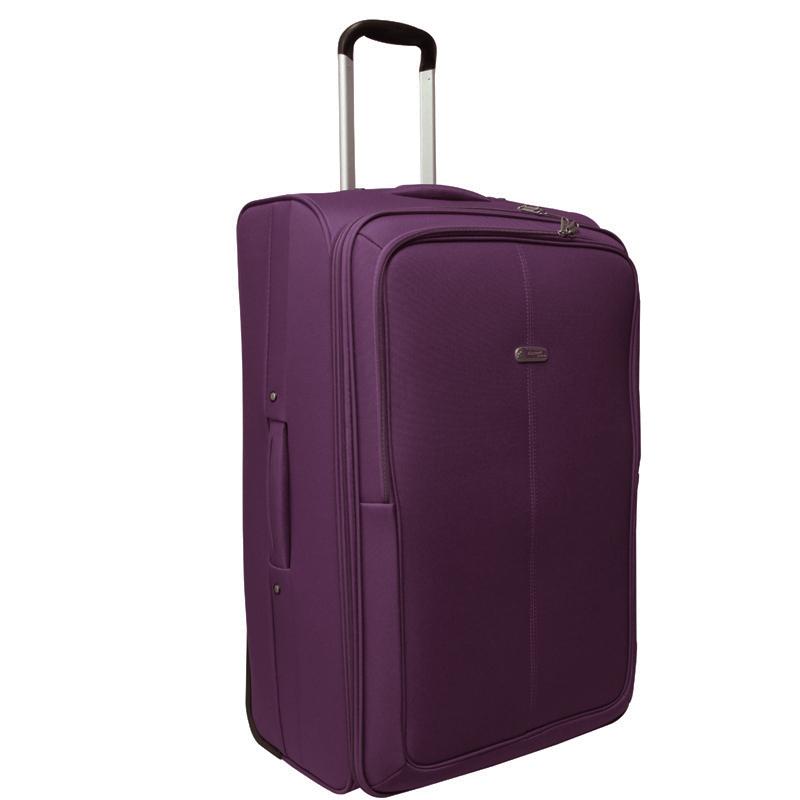 Чемодан-тележка Edmins, цвет: фиолетовый, 70х45х32см625 СТ 760*9Чемодан-тележка с выдвижной ручкой 70 см. с расширением 5 см.Максимальная нагрузка 30 кг.