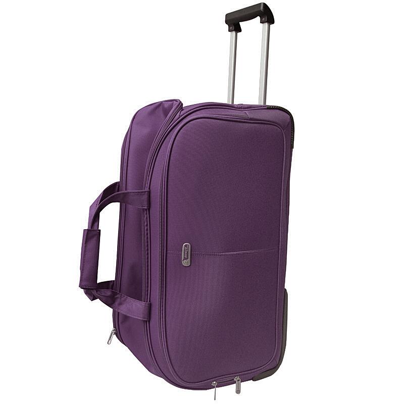Сумка дорожная на колесах Edmins, цвет: фиолетовый, 65х38х34см