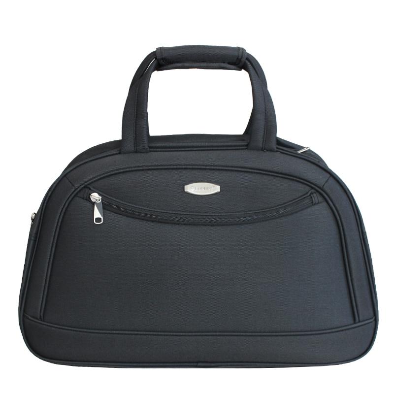 Сумка дорожная Edmins, цвет: темно-серый, 51 х 33 х 20 см. 213 НF 420*31213 НF 420*31Стильная дорожная сумка Edmins прекрасно подойдет как для деловых поездок, так и для путешествий.Изделие выполнено из полиэстера в однотонном цвете и оформлено спереди металлической пластиной с гравировкой в виде названия бренда. Сумка имеет одно вместительное отделение, закрывающееся на застежку-молнию. Внутри расположен врезной карман на молнии. Лицевая сторона дополнена врезным карманом на застежке-молнии, обратная сторона - потайной ручкой на застежке-липучке. Изделие оснащено двумя эргономичными ручками для переноски с фиксатором на застежке-липучке и широким плечевым ремнем регулируемой длины. Дно защищено от повреждений четырьмя пластиковыми ножками.В комплект входит навесной замочек с двумя ключами.Такая дорожная сумка поможет вместить в себя все самое необходимое для путешествия.Размер дорожной сумки: 51 х 33 х 20 см.Вес дорожной сумки: 1 кг.Максимальная нагрузка: 7 кг.