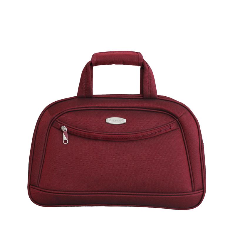 Сумка дорожная Edmins, цвет: бордовый, 46 х 30 х 16 см. 213 HF 415*2213 HF 415*2Стильная дорожная сумка Edmins прекрасно подойдет как для деловых поездок, так и для путешествий.Изделие выполнено из полиэстера в однотонном цвете и оформлено спереди металлической пластиной с гравировкой в виде названия бренда. Сумка имеет одно вместительное отделение, закрывающееся на застежку-молнию. Внутри расположен врезной карман на молнии. Лицевая сторона дополнена врезным карманом на застежке-молнии, обратная сторона - потайной ручкой на застежке-липучке. Изделие оснащено двумя эргономичными ручками для переноски с фиксатором на застежке-липучке и широким плечевым ремнем регулируемой длины. Дно защищено от повреждений четырьмя пластиковыми ножками.В комплект входит навесной замочек с двумя ключами.Такая дорожная сумка поможет вместить в себя все самое необходимое для путешествия.Размер дорожной сумки: 46 х 30 х 16 см.Вес дорожной сумки: 0,9 кг.Максимальная нагрузка: 7 кг.