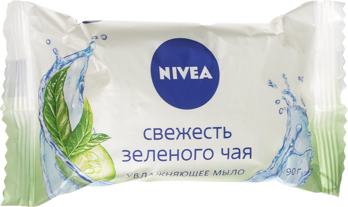 NIVEA Мыло-уход Свежесть зеленого чая 90 гр интимная косметика dr sea мыло для интимной гигиены с экстрактом зеленого чая