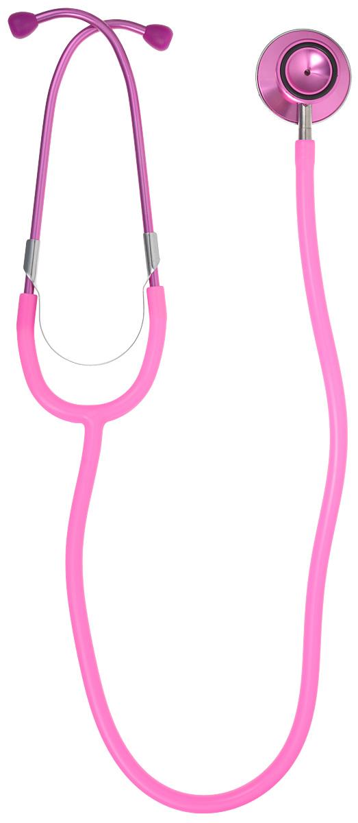 Amrus Стетоскоп медицинский терапевтический с двойной цветной головкой диаметр мембраны 44 мм, диаметр воронки 28 мм, цвет: розовый. 04-АМ40404-АМ404_розовыйХарактеристики: Двухсторонняя цветная металлическая вращающаяся головка с большой чувствительной мембраной; Воронка с резиновым кольцом, не вызывающим озноба; Удобный поворотный механизм переключения между рабочими поверхностями воронки и мембраны; Прочная Y-образная звукопроводящая трубка; Съемные хромированные бинауральные трубки с наружной пружиной; Виниловые ушные оливы конической формы; Диаметр мембраны 44 мм.;Диаметр воронки 28 мм.; Диаметр трубки 9 мм.; Длина трубки 55 мм.; Цветовая гамма: черный Гарантийный срок эксплуатации – один год со дня ввода в эксплуатацию.Модель используется для прослушивания сердца, легких и других внутренних органов у взрослых пациентов.