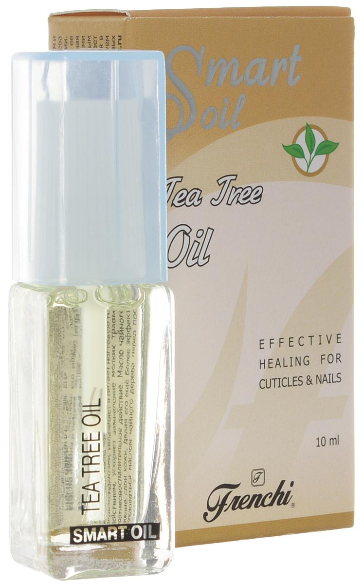Frenchi Умная эмаль Масло чайного дерева, 10 млУТ00000741Масло чайного дерева является лидером среди всех масел по своим бактерицидным, антисептическим и ранозаживляющим свойствам. Его можно назвать «зеленкой» для ногтей и кутикулы. Масло чайного дерева получают из листьев растения мелалеука, относящегося к семейству миртовых, произрастающего в Австралии. Масло интенсивно увлажняет ногтевую пластину, полноценно питает и смягчает кутикулу, предотвращает ее пересыхание и появление заусенцев, способствует росту крепких здоровых ногтей. Тонко сбалансированная комбинация масла чайного дерева в сочетании с другими маслами, витаминами А и Е, являющимися мощными антиоксидантами, увлажняет и питает ногтевую пластину, обладает регенерирующим и противовоспалительным действием, ускоряет заживление мелких травм в околоногтевой области (заусеницы, порезы), оказывает противовоспалительное действие. Масло чайного дерева обладает способностью глубокого проникновения в нижние слои кожи, делая его ещё более эффективным. В целях профилактики и дезинфекции рекомендуем пользоваться маслом чайного дерева перед посещением бассейна, сауны для предотвращения грибковых заболеваний.Как ухаживать за ногтями: советы эксперта. Статья OZON Гид