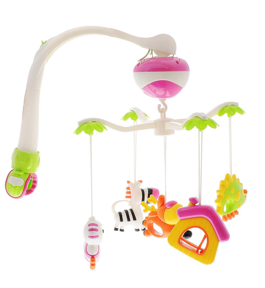 Maman Мобиль Музыкальная карусель с погремушками Зебра олень домик - Игрушки для малышей