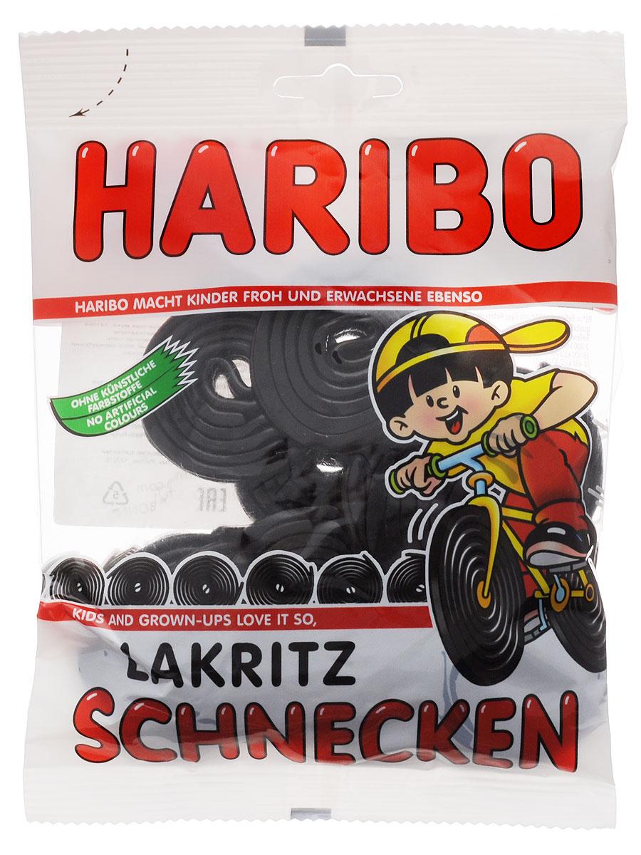 Haribo Лакричные улитки, 200 г жевательные конфеты haribo коло радо мини c лакрицей и какао 175г