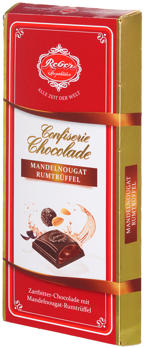 """Reber горький шоколад """"Almond Praline-Rum Truffle"""" с трюфельной начинкой из миндаля и рома, 100 г"""