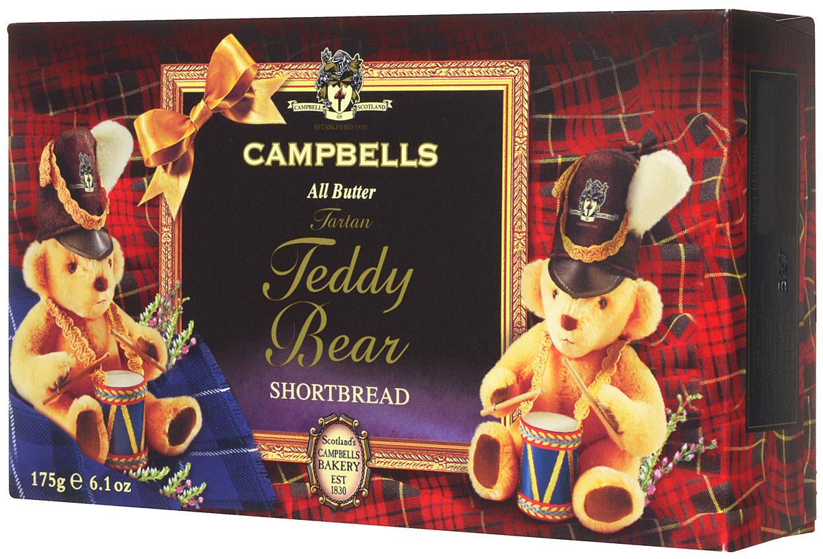 Campbells Teddy Bears печенье песочное, 175 г1520034Попробуйте легендарное фигурное песочное печенье из Шотландии от Campbells. Производитель вот уже 180 лет не изменяет рецепт приготовления этого вкуснейшего печенья, который состоит преимущественно из натуральных ингредиентов.