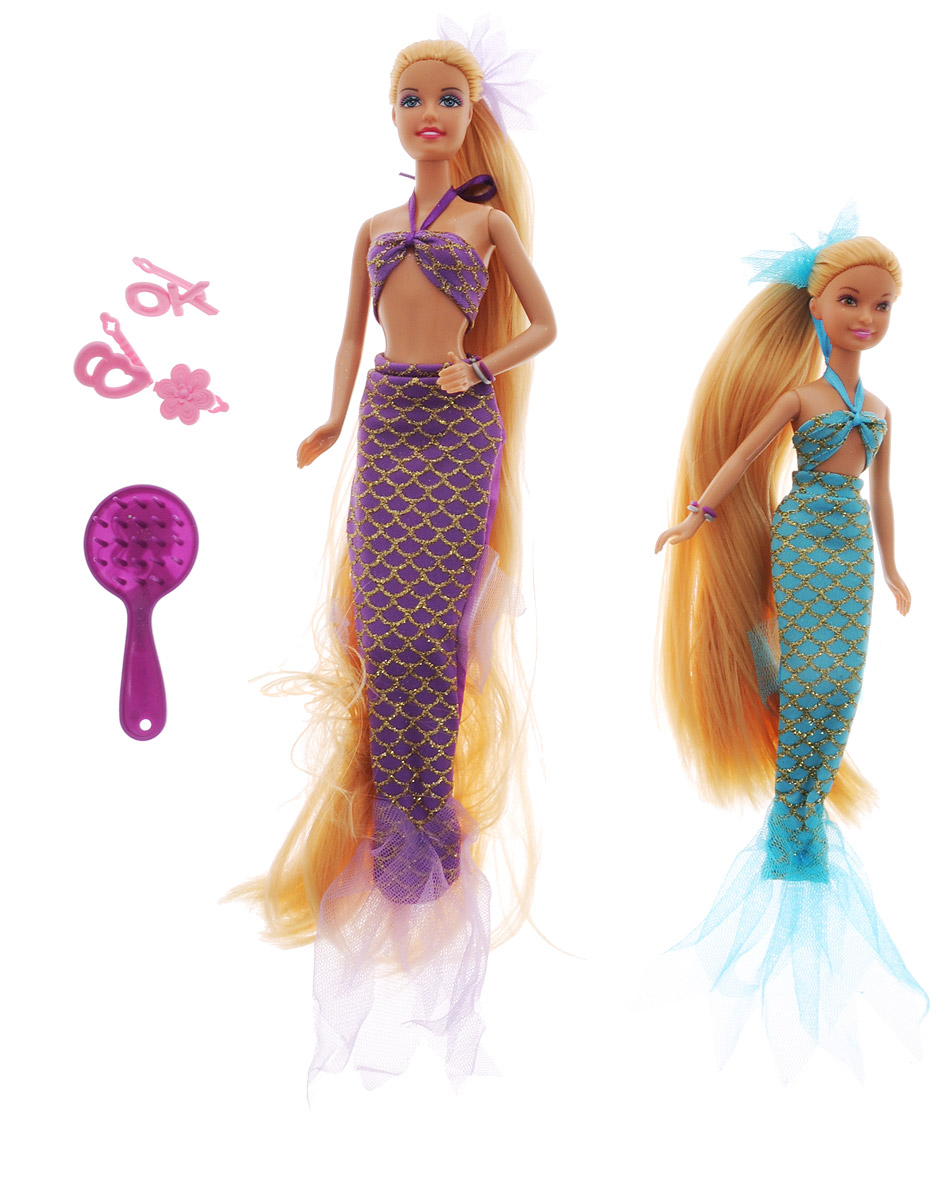 Defa Набор кукол Lucy Русалки-сестры цвет фиолетовый голубой 2 шт куклы и одежда для кукол defa lucy набор кукол с беременной мамой и аксессуарами