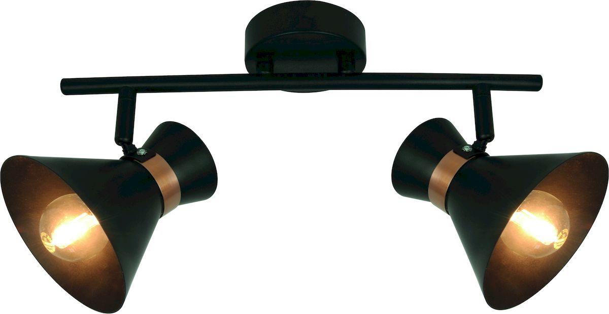 """Светильник Arte Lamp """"Baltimore"""" поможет создать в вашем доме атмосферу уюта и комфорта. Благодаря высококачественным материалам он практичен в использовании и отлично работает на протяжении долгого периода времени.  Высота: 19 см.  Ширина: 10 см.  Длина: 36 см.  Диаметр основания: 12 см.  Цоколь: Е14, 2 шт, 40 Ватт.  Поворотные вверх-вниз, влево-вправо платформы.  Крепление: монтажная планка двумя шурупами."""