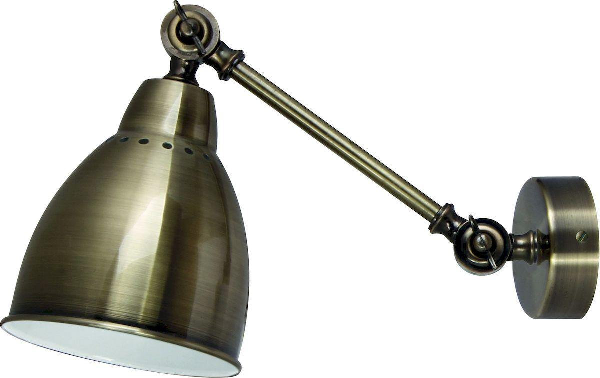"""Светильник Arte Lamp """"Braccio"""" поможет создать в вашем доме атмосферу уюта и комфорта. Благодаря высококачественным материалам он практичен в использовании и отлично работает на протяжении долгого периода времени.  Высота плафона: 23 см.  Ширина плафона: 15 см.  Длина: 40 см.  Цоколь: Е27, 1х60 Ватт.  Плафон и ножка с фиксацией, поворотные.  Крепление: монтажная планка двумя шурупами."""