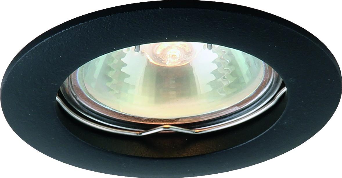 Светильник потолочный Arte Lamp Basic. A2103PL-1BKA2103PL-1BKПотолочный светильник Arte Lamp Basic поможет создать в вашем доме атмосферу уюта и комфорта. Благодаря высококачественным материалам он практичен в использовании и отлично работает на протяжении долгого периода времени. Стильный встраиваемый спот круглой формы подойдет для любого помещения.Диаметр: 76 мм. Высота встраиваемой части минимальная: 60 мм. Диаметр врезного отверстия: 58 мм.Лампы: GU10; 1x50 W.