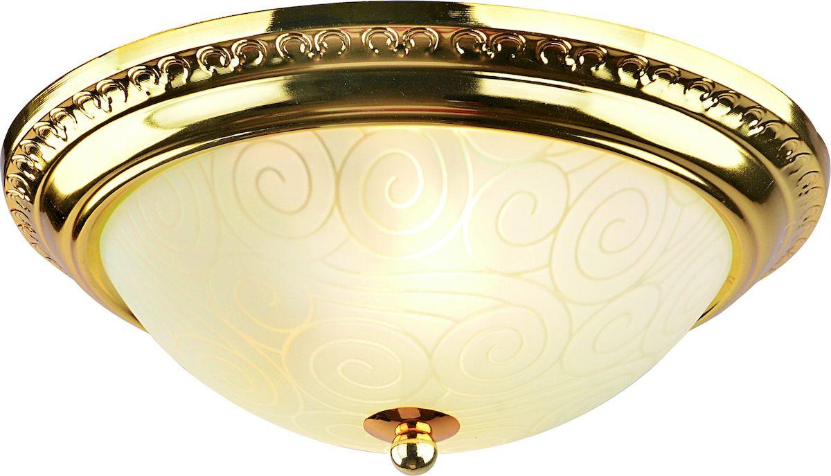 Светильник потолочный Arte Lamp Alta. A3013PL-2GOA3013PL-2GOПотолочный светильник Arte Lamp Alta поможет создать в вашем доме атмосферу уюта и комфорта. Благодаря высококачественным материалам он практичен в использовании и отлично работает на протяжении долгого периода времени.Диаметр: 28 см.Высота: 11 см. Лампы: E27; 2x40W. Тип крепления: на шурупах.