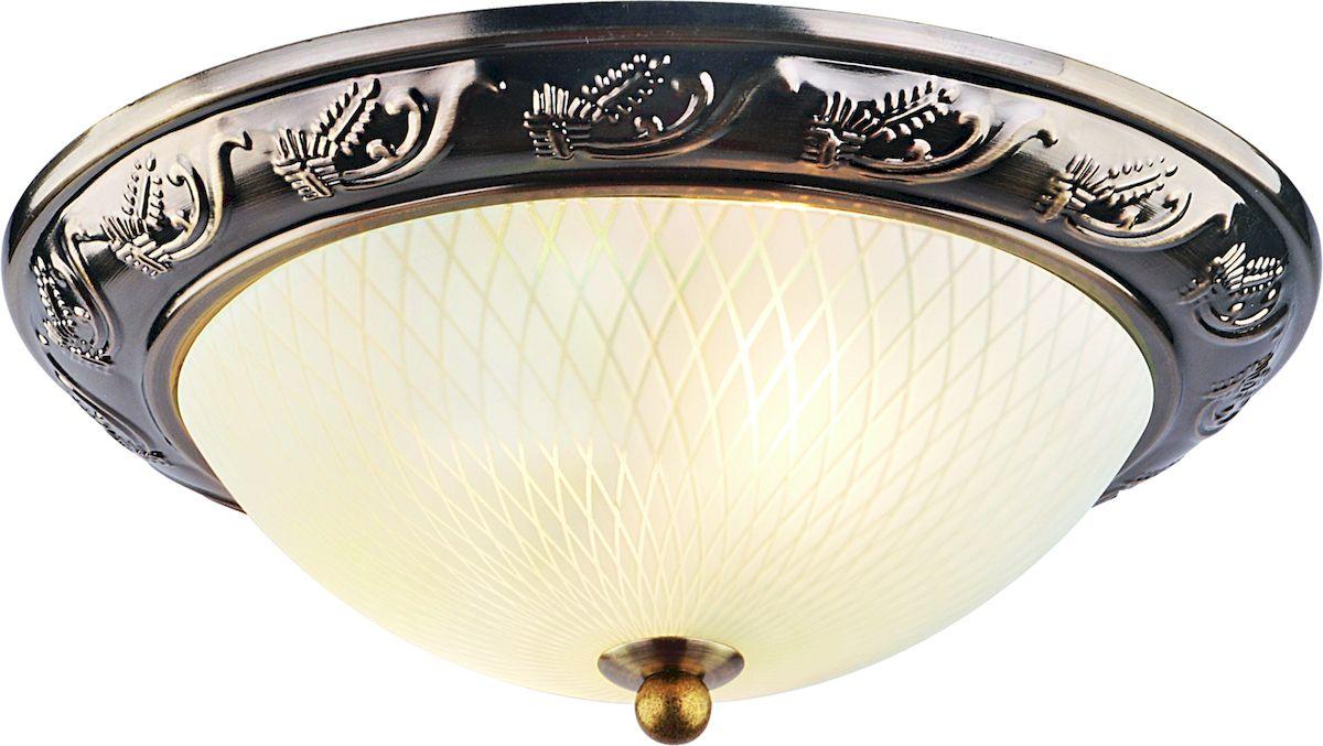 Светильник потолочный Arte Lamp Alta. A3019PL-2ABA3019PL-2ABПотолочный светильник Arte Lamp Alta поможет создать в вашем доме атмосферу уюта и комфорта. Благодаря высококачественным материалам он практичен в использовании и отлично работает на протяжении долгого периода времени.Диаметр: 28 см. Высота: 11 см. Лампы: E27; 2x40W. Тип крепления: на шурупах.