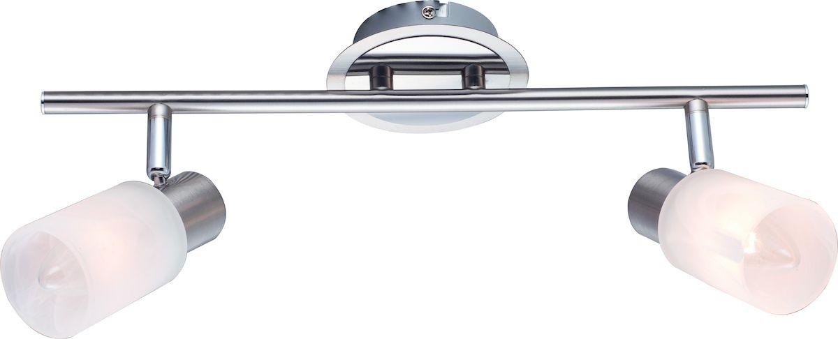 Светильник потолочный Arte Lamp Cavalletta. A4510PL-2SSA4510PL-2SSСветильник Arte Lamp Cavalletta поможет создать в вашем доме атмосферу уюта и комфорта. Благодаря высококачественным материалам он практичен в использовании и отлично работает на протяжении долгого периода времени. Материал плафонов: стекло, металл гальванизированный.Количество источников света: 2.Мощность источника света: 40 Вт.Цоколь: E14.Напряжение: 220В.Площадь освещения: 3 м2.