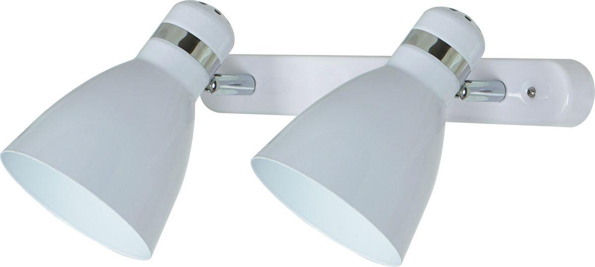 Светильник настенный Arte Lamp Mercoled, цвет: белый. A5049AP-2WHA5049AP-2WHСветильник Arte Lamp Mercoled поможет создать в вашем доме атмосферу уюта и комфорта. Благодаря высококачественным материалам он практичен в использовании и отлично работает на протяжении долгого периода времени. Цоколь Е27, 2 шт., 60 Вт. Пылевлагозащита: IP20.