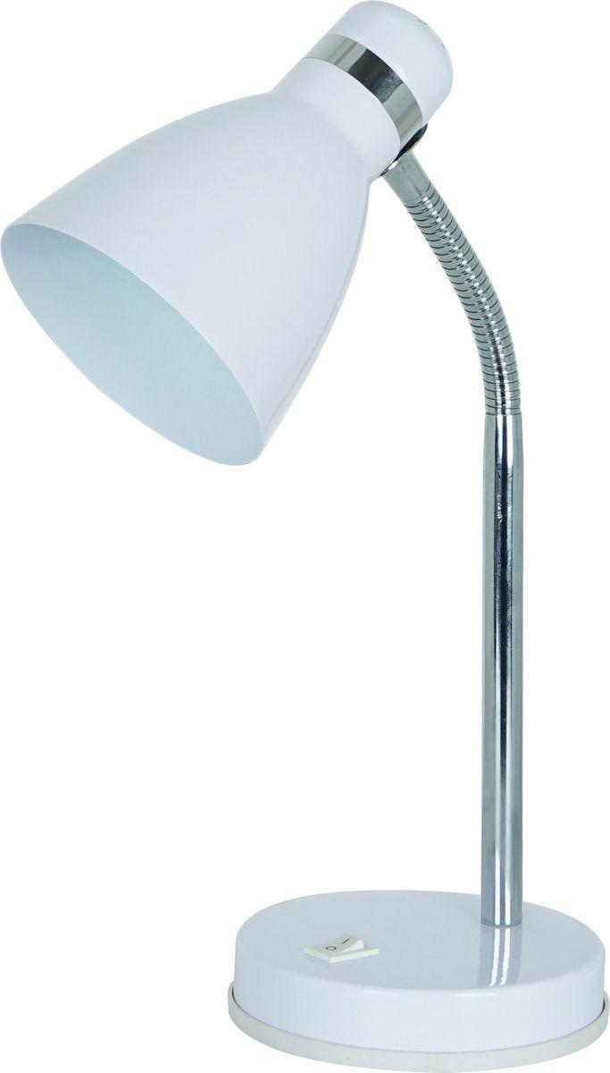 Светильник настольный Arte Lamp Mercoled. A5049LT-1WHA5049LT-1WHСветильник Arte Lamp Mercoled поможет создать в вашем доме атмосферу уюта и комфорта. Благодаря высококачественным материалам он практичен в использовании и отлично работает на протяжении долгого периода времени. Материал плафонов/подвесок: металл крашеный.Количество источников света: 1.Мощность источника света: 60 Вт.Цоколь: E27.Напряжение: 220В.Наличие ламп в комплекте: нет.