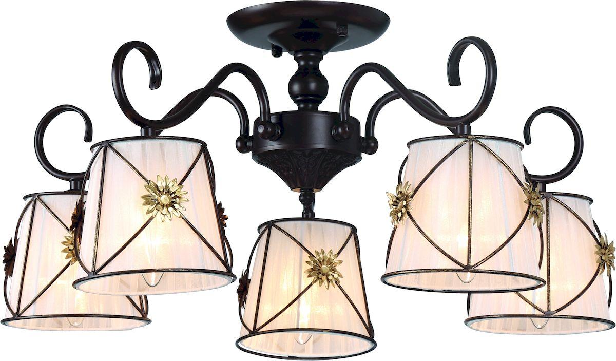 Светильник потолочный Arte Lamp Fortuna A5495PL-5BR